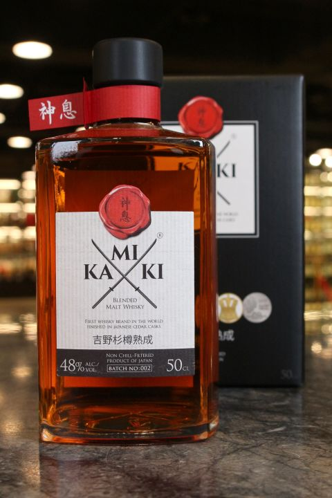 Kamiki Blended Malt Whisky Japanese Cedar Casks Finish 神息 吉野杉樽熟成 (48% 30ml)