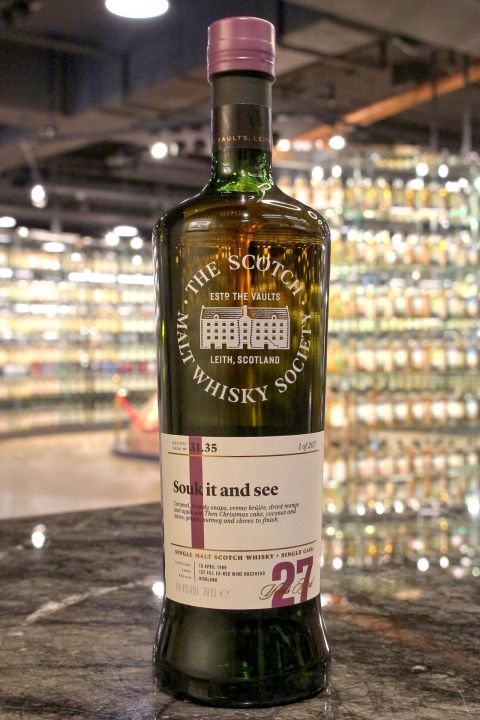 SMWS 31.35 Jura 27yr 1st Fill Ex-Red Wine Hogshead 吉拉 27年 紅酒桶原酒 (54.5% 30ml)