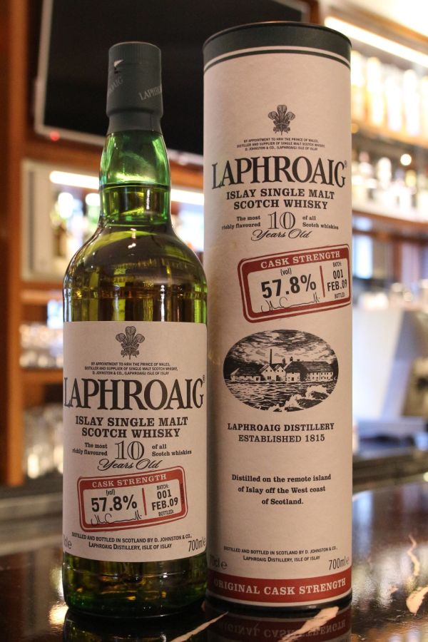 LAPHROAIG 10 years Cask Strength Batch 001 拉佛格 10年 原酒 第一版 (700ml 57.8%)
