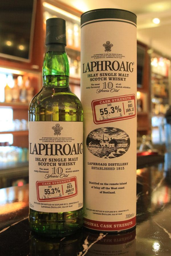 LAPHROAIG 10 years Cask Strength Batch No.3 拉佛格 10年 原酒強度 第3版 (700ml 55.3%)