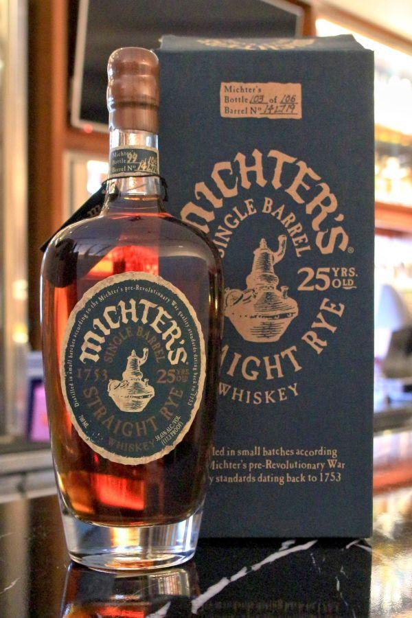 Michter's Single Barrel Straight Rye 25 years 酩帝 25年 單桶裸麥 (700ml 58.65%)
