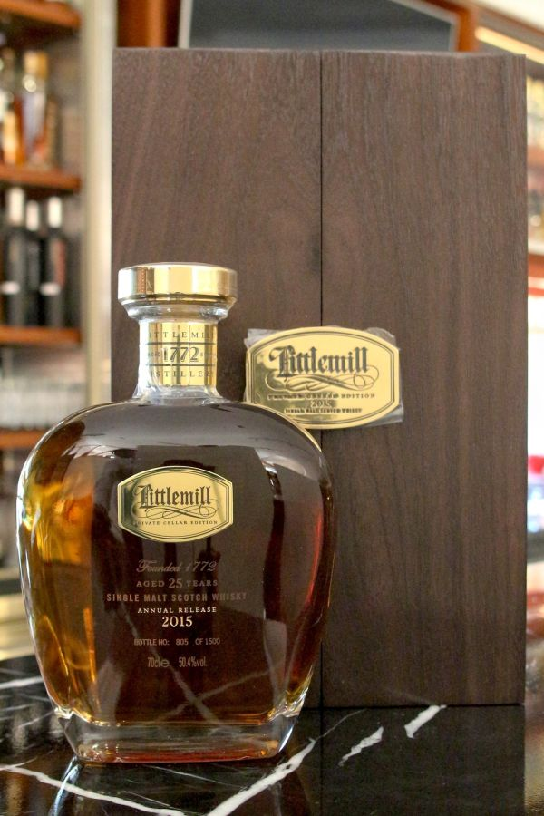 (現貨) Littlemill 25 years 2015 Private Cellar Edition 小磨坊 25年 酒窖珍藏版 限量OB (700ml 50.4%)