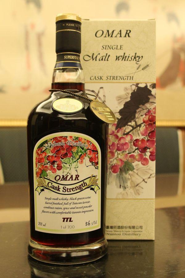 TTL Nantou Omar Black Queen Wine Barrel Finished 臺灣菸酒 黑后葡萄風味桶 限量原酒 (56% 30ml)