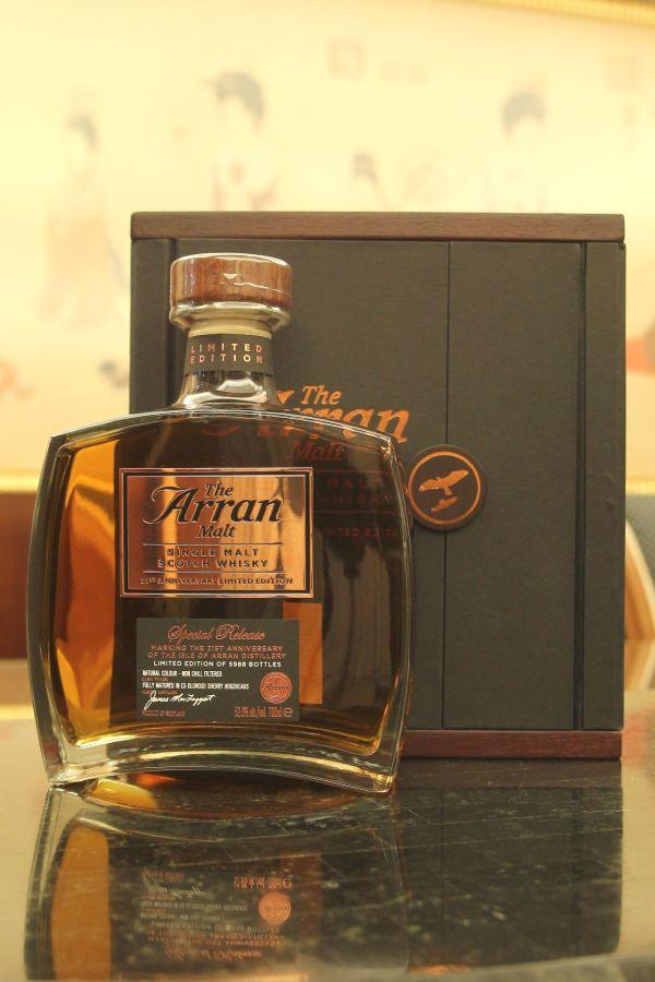 Arran 21st Anniversary EX-Oloroso Sherry Cask 愛倫 創廠21週年紀念 限定版雪莉桶 (52.6% 30ml)