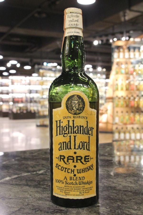 Highlander and Lord 1940s Rare Blended 高地人與君王 1940s 稀有調和 60年代 (49.6% 15ml)